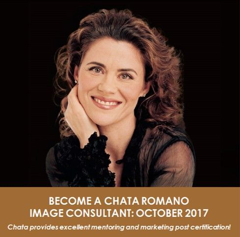 BECOME A CHATA ROMANO IMAGE CONSULTANT: OCT 2017 – EARLY BIRD SPECIAL OFFER! Unlock your full potential and become part of our dynamic team! Our consultants are personally trained by Chata to conduct Image Consultations, Makeovers and Corporate Workshops. Chata provides excellent mentoring and marketing post certification. Early bird special if you book on or before 24 July 2017. For more info please click here (next training session in Oct 2017) http://chataromano.com/become-a-consultant/
