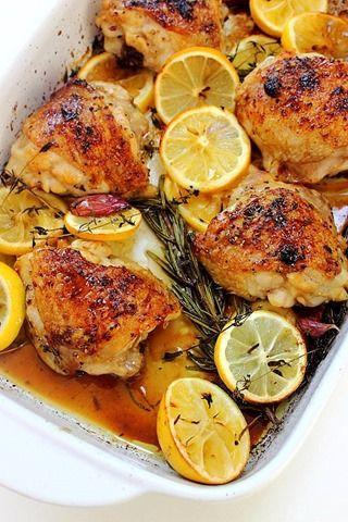 Rosemary Lemon Baked Chicken