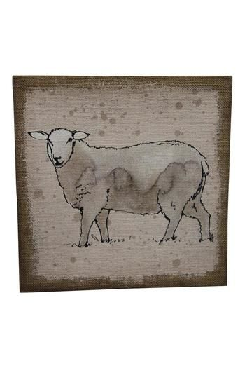 24.95$  Watch now - http://vixom.justgood.pw/vig/item.php?t=pgwya1v35763 - Sheep Burlap Wall Decor 24.95$