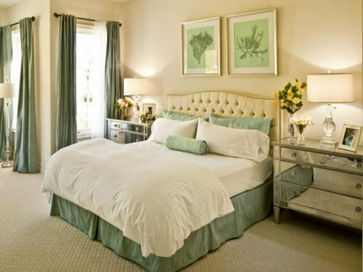 Natural And Fresh Seafoam Green Bedroom Design With