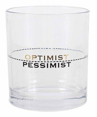 'Optimist' Drink-Level Glass