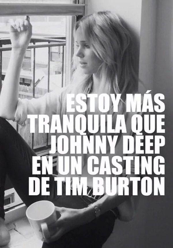 Johnny Deep en un casting de Tim Burton. @maka994