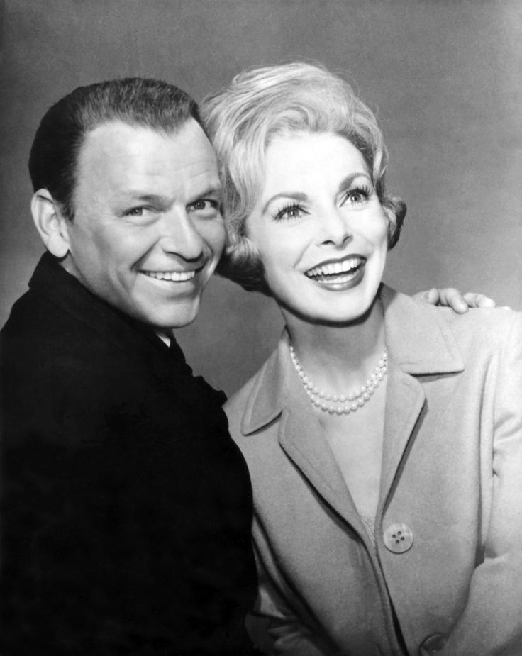 With Frank Sinatra in a publicity shot for THE MANCHURIAN CANDIDATE (1962).
