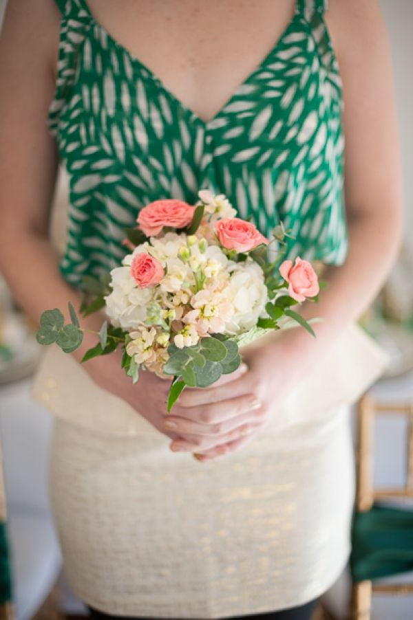 petite bridesmaids' bouquet // photo by Jasmine Nicole Photography // flowers by Amy Balsters