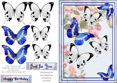 Very elegant card for someone special, to say Happy Birthday, of Just for you for what ever reason.