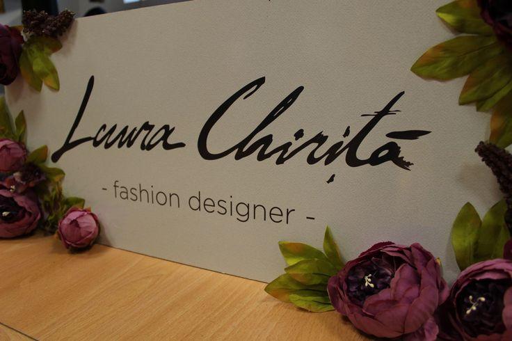 Fashion Designer- Banner Logo Brand Laura Chiriță