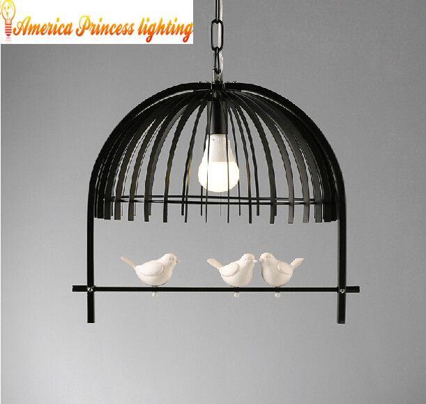 Современный минималистский ресторан огни из светодиодов в первый сингл проход творческий птица люстра освещение, материал железными, AC110 240V купить на AliExpress