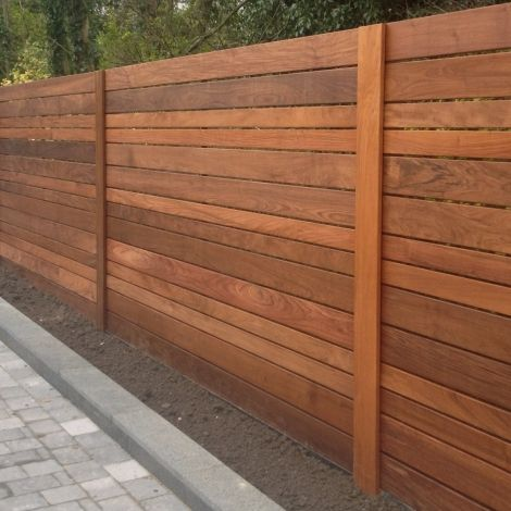 Ipe slatted fence panel