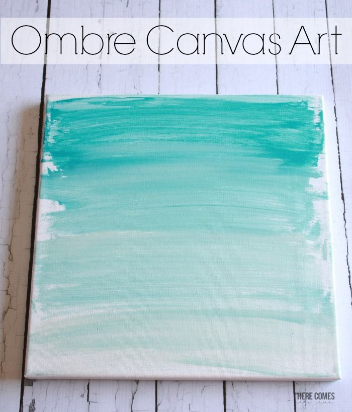 This Ombre Canvas Art is so beautiful and so easy to make. Customize it with any color!