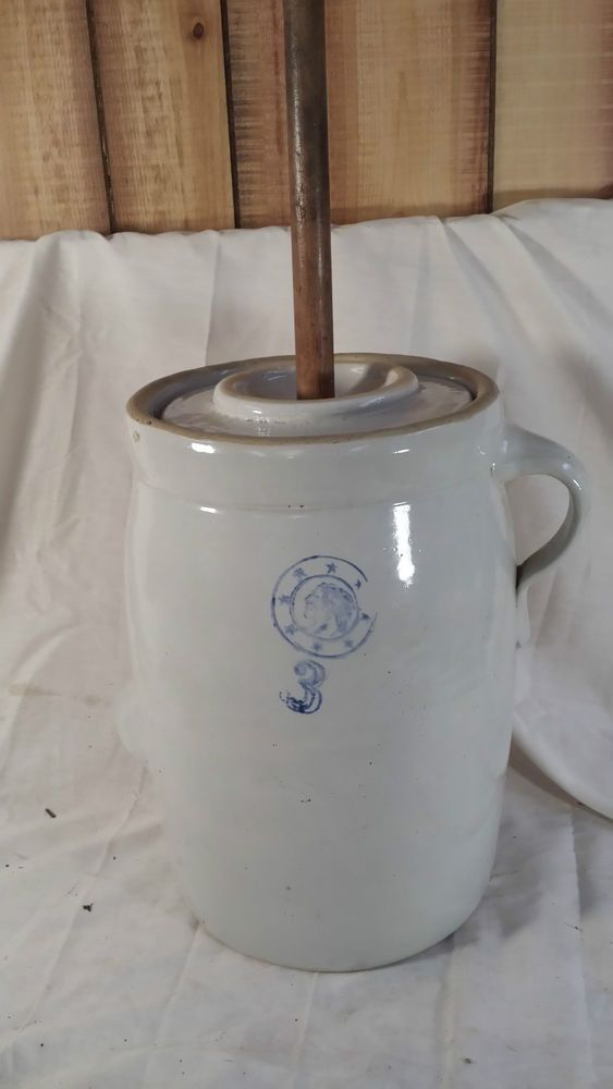 Early 20th C Louisville Indian Head Logo Pottery Butter