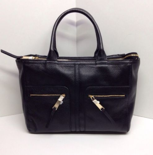 Tommy Hilfiger T Group PEBBLED Leather E w Tote