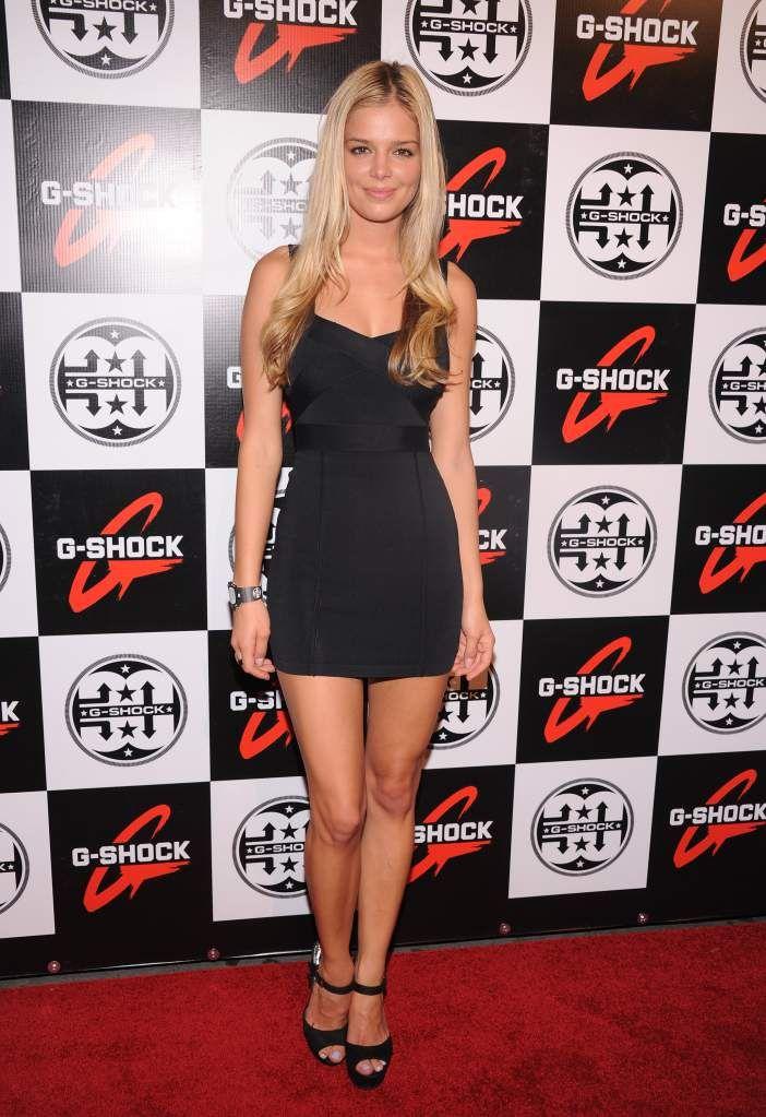 Model Danielle Knudson is dating tennis star Milos Raonic. (Getty)