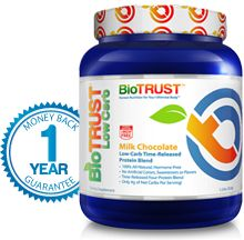 BioTrust- Low-Carb Time-Released Protein Blend Made with Natural Ingredients, Hormone-Free No Artificial Colors, Sweeteners or Flavors Time-Released Four-Protein Blend Only 4g of Net Carbs Per Serving!