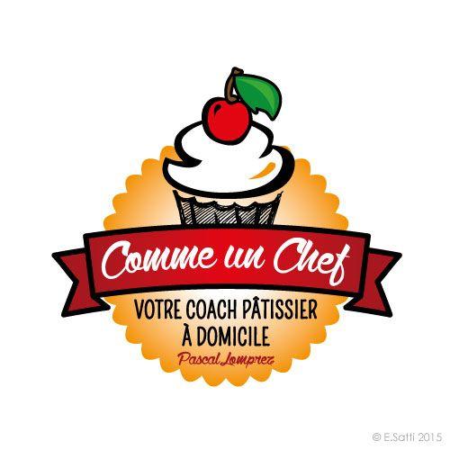 Comme un Chef - Coach pâtissier à domicile - 84 logo + cartes de visite + flyers