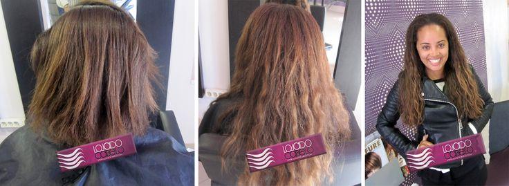 Mais uma cliente convencida...    Aplicado com Nó Italiano - 200 gramas de cabelo natural Indiano ondulado de 60-65 Cms   Loja do Cabelo - O melhor cabelo, os melhores resultados!  #beauty #hair #hairextensions #extensões #extensoesdecabelo #beleza #lojadocabelo