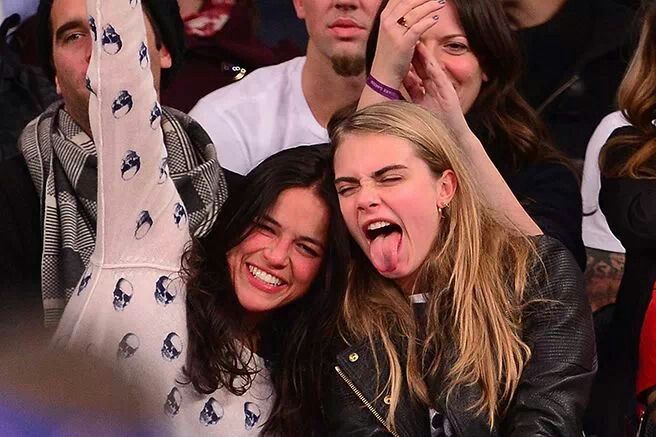 Michelle Rodrigez & Cara Delevingne