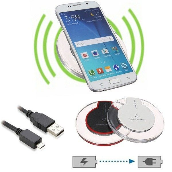 QI Wireless Charging Charger Pad for Samsung Galaxy S6 Nokia HTC LG iPhone 6 5S