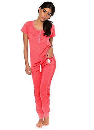 cf494ab310 US Polo Assn. U.S. Polo ASSN. Women s Short Sleeve Shirt and Long Pajama  Pants