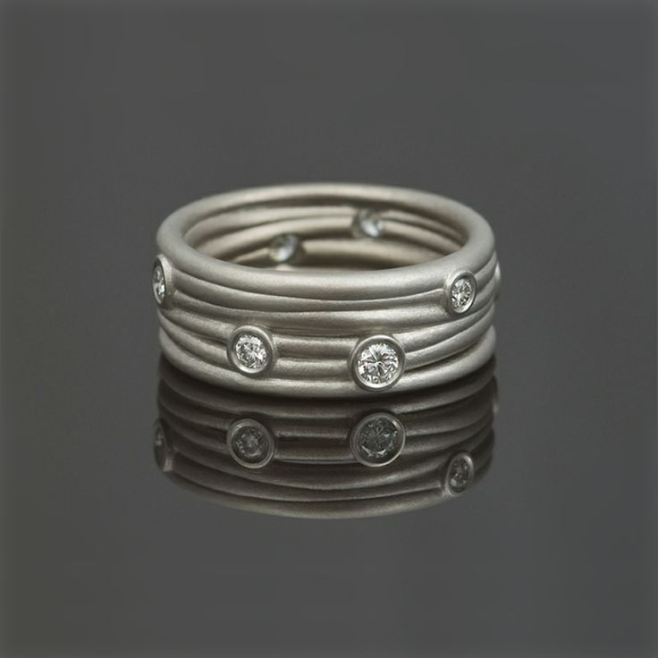 Ring, platina, diamanten