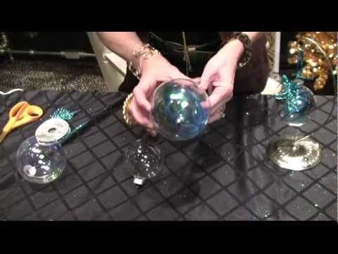 DIY Peacock Christmas Ornaments by Donna Moss Designs