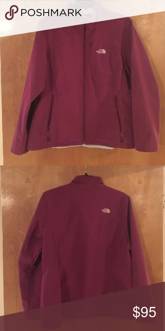 North face jacket Women's Burgundy or wine North face XXL softshell jacket. Very good used condition. North Face Jackets & Coats