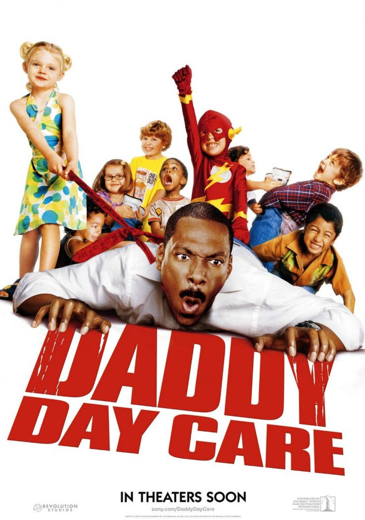 """Daddy Day Care""(2003).Directed by Steve Carr.Starring: Cuba Gooding, Eddie Murphy, Jeff Garlin. It's an American comedy. Charlie and his former colleague Phil are looking after their children while their wives are at work. One day the bright idea to combine employment and caring for the sons came to Charlie's mind. He offers to open a kindergarten ""Fathers Day Care"".  Recommended age-6+"