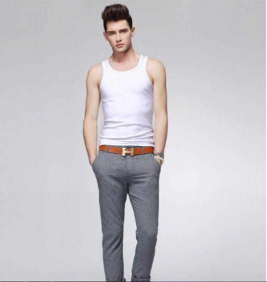 New  2015  Popular Mens Boys Tank Top Muscle Sleeveless T-shirts Sportwear Vest Undershirts