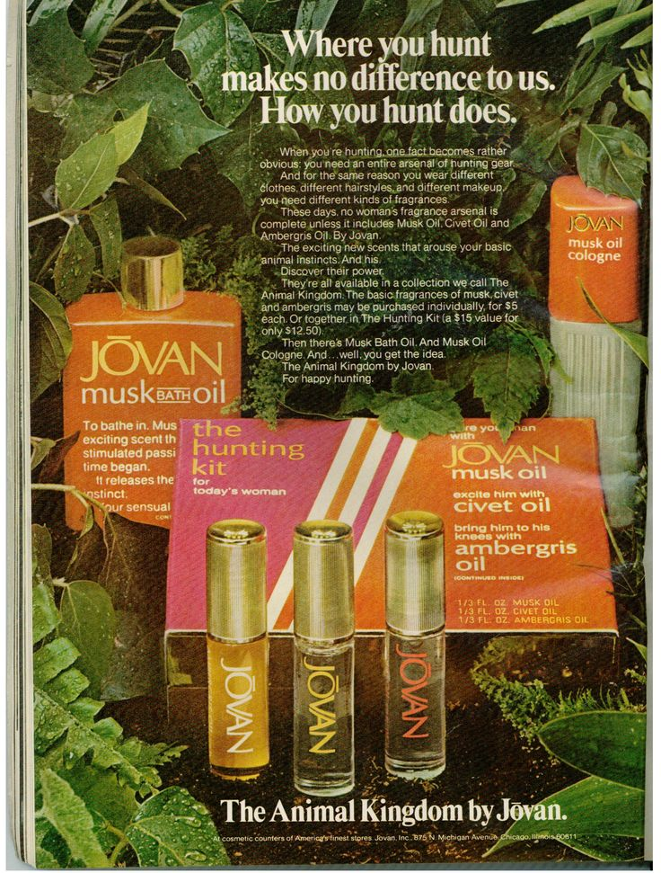 The Cool Scents of 1973: Charlie, Sweet Earth, and Musk Oil. (Vintage 1973 Jovan Musk Oil ad) | Musings from Marilyn - Finnfemme Blog