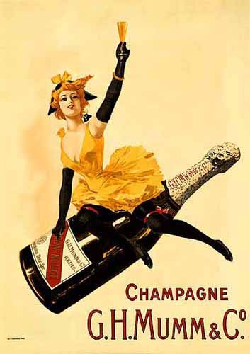 This is actually on my wall in my office:  Champagne - G.H. Mumm & Co. - REPRODUCTION POSTERS
