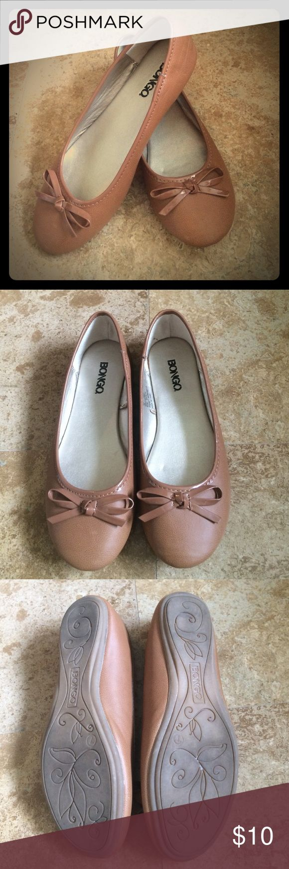 BONGO camel ballet flats Excellent condition. Worn once, too small for my foot. Size 7 BONGO Shoes Flats & Loafers
