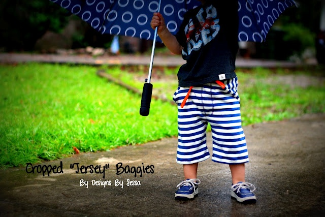 Cropped Jersey Baggy shorts tutorial + free pattern {3T}