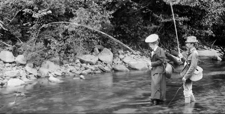 110 best vintage fishing photos images on pinterest for Leland fly fishing