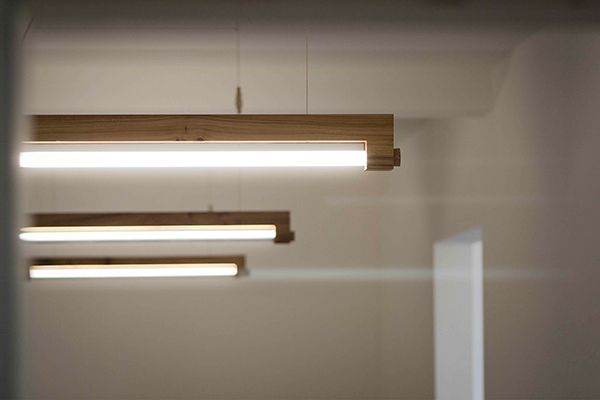 Locally Sourced Lighting Troy Turner, yankodesign.com The Ninebyfour lamp is a combination of neglected local natural resources and the advantageous LED tube light! The minimalistic design is crafted from local Amsterdam elm trees that are cut down due to illness and would otherwise be used as firewo…