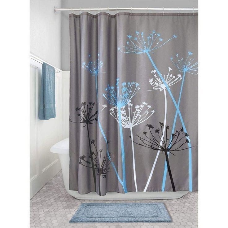 Ebern Designs Wunsch Single Shower Curtain Purple Bathroom