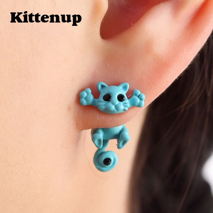 Kittenup New Multiple Color Classic Fashion Kitten Animal brincos Jewelry Cute Cat Stud Earrings For Women Girls-in Stud Earrings from Jewelry & Accessories on Aliexpress.com | Alibaba Group