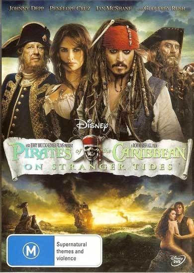 Pirates of the Caribbean: On Stranger Tides DVD New - Johnny Depp, Geoffrey Rush