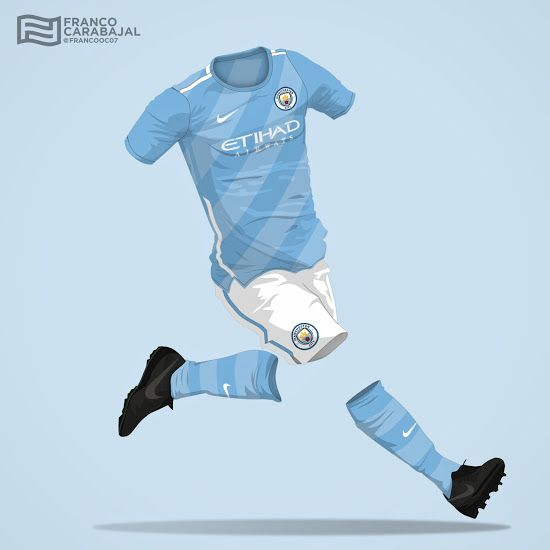 b88f18159 Nike Manchester City Concept Home Kit by Franco Carabajal - Footy Headlines