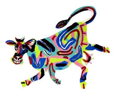 Elza Cow Sculpture by David Gerstein