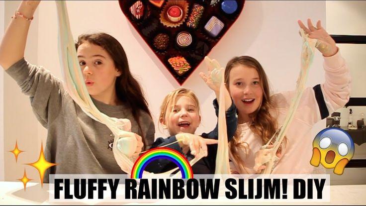FLUFFY RAINBOW SLIJM MAKEN! | DIY - YouTube