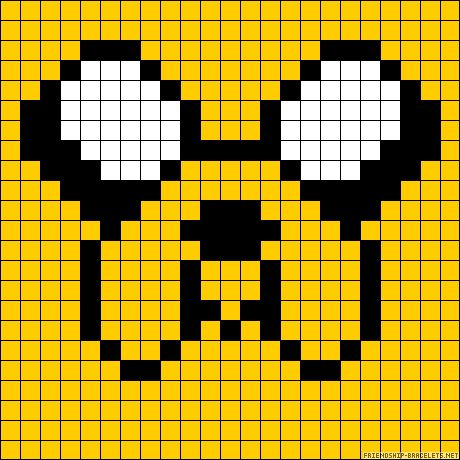 Jake Dog Adbenture Time  perler bead pattern
