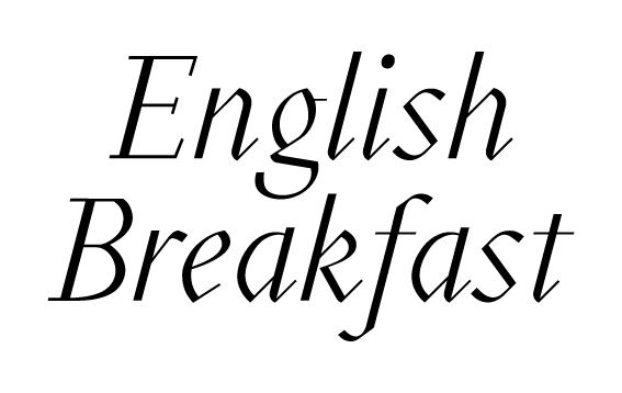 English Breakfast Typography on Behance