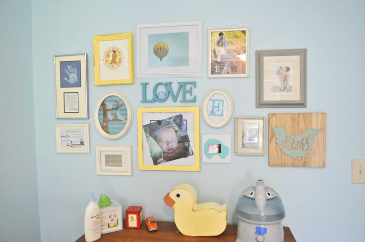 Great ideas for what to place in a gallery wall - love the mix of pictures with sentimental items! #gallerywall #nurseryElliot Nurseries, Projects Nurseries, Future Baby, Arp 3, Gallery Wall, Gallerywall Littlesprout, Gallerywall Nurseries, Baby Stuff, Baby Nurseries