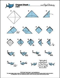 1605 best images about how to do origami on pinterest Origami Tiger Shark Origami Tiger Shark