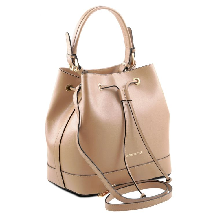 Minerva - Saffiano leather secchiello bag - TL141436 – Rehana.co