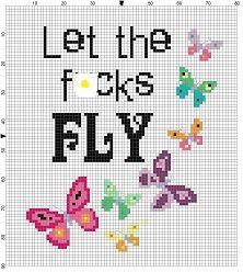 Let the fcks fly  Funny Motivational Modern Subversive Cross