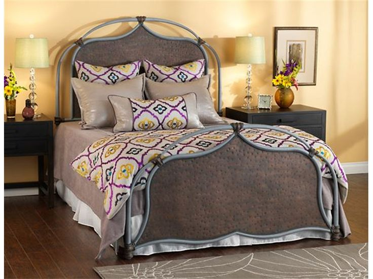 humble abode lugan iron bed by wesley allen hand hammered metal headboard and footboard available in over 30 finish color options