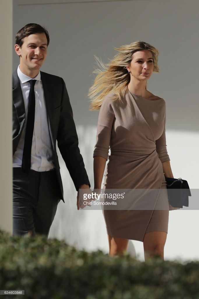 White House Senior Advisor to the President for Strategic Planning Jared Kushner (L) and his wife and President Donald Trump's daughter Ivanka Trump walk down the West Wing Colonnade following a bilateral meeting between Trump and Japanese Prime Minister Shinzo Abe February 10, 2017 in Washington, DC. Trump and Abe are expected to discuss many issues, including trade and security ties and will hold a joint press confrence later in the day.