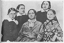 Božena Němcová and children, 1852