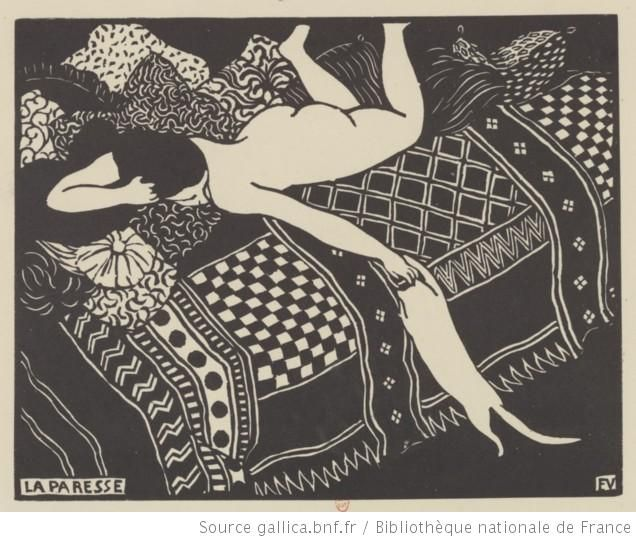 La paresse : [estampe] / Félix Vallotton - 1896