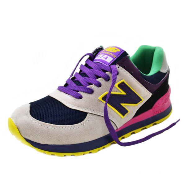 New Balance 574 Krem Mor Sarı | BAYAN AYAKKABI | Spor | New balance kadın ayakkabıları - En uygun fiyata | Nelazimsa.net